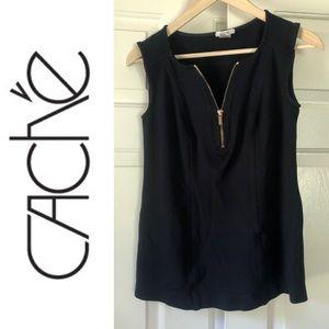 Cache Half Zip Sleeveless Top- Size S